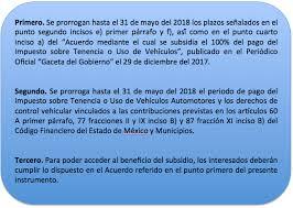 ultimo dia para pagar refrendo edomex 2016 edomex prorroga pago de tenencia 2018 idc