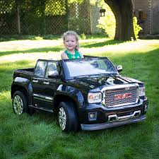 toddler motorized car rollplay 12 volt gmc sierra denali battery powered ride on vehicle