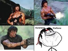 Forever Alone Meme Origin - forever stallone forever alone know your meme