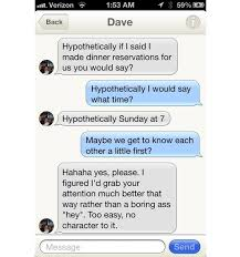 Tinder Hookup App Leads to Marriage   Dating and Relationships Online After he received glowing praise from several of their nine mutual friends  her response was   quot Hypothetically I would say      what time       quot