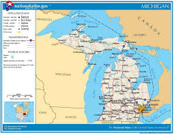Michigan State Map Michigan Civil War History Battles Casualties Army Soldiers