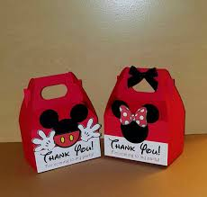 mickey mouse favor bags 12 minnie and mickey mouse favor boxes gable boxes candy bags