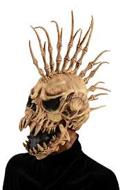 halloween city masks amazon com forum novelties men u0027s sinister fin skull costume
