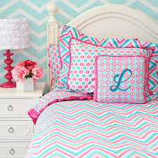 bed comforter sets for teenage girls teen bedding chevron pink u0026 turquoise girls chevron u0026 ikat twin
