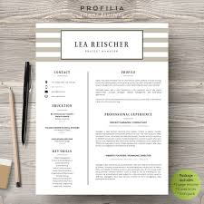 Word Resume Cover Letter Template Word Resume U0026 Cover Letter Template By Profilia Resume Boutique On