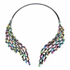 crystal collar statement necklace images Charm crystal collar choker statement necklace for women idealshunt jpg
