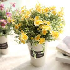 flower arrangements for home decor new artificial fake flowers mid chrysanthemum floral wedding bouquet