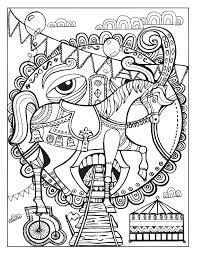 circus coloring behance zentangles