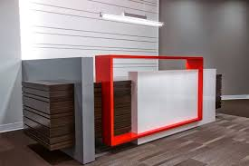 Metal Reception Desk Custom Designed Reception Desk With A Welded Metal Accent Painted