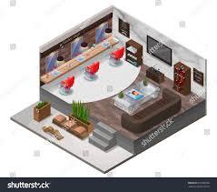 design a beauty salon floor plan isometric barber shop interior hipster hair stock vector 695308366