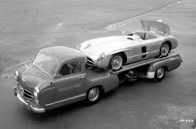classic mercedes race cars mercedes benz u201cblue wonder u201d racing car transporter 1954 blog