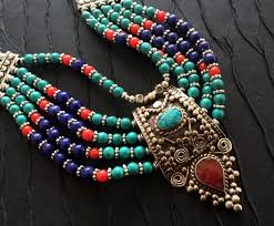 tibetan necklace images Statement necklace turquoise lapis coral necklace nepal jewelry jpg