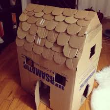 download cardboard cat house plans pdf cardboard playhouse only