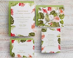 tropical wedding invitations tropical wedding invitations hawaii wedding destination