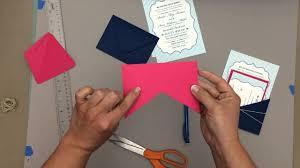 Wedding Pocket Envelopes Hack An Envelope Into A Pocket Wedding Invitation Youtube