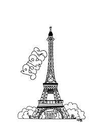 paris eiffel tower colouring sheet by jesseluvviolet on deviantart
