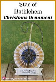 of bethlehem ornament creatively