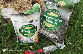 update using suståne natural fertilizer in my vegetable garden