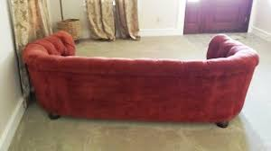 vintage red velvet sofa for sale moke hill