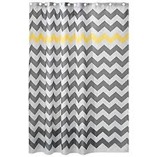 amazon com interdesign chevron shower curtain 72 x 72 inch gray
