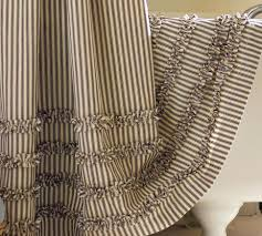 Black Ruffle Shower Curtain Best 25 Striped Shower Curtains Ideas On Pinterest Green Home