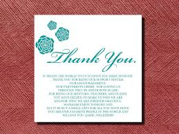 wedding thank yous wording wedding thank you place setting card diy