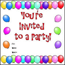 birthday party invitations birthday invitations clipart 45