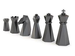 Chess Set Low Poly Chess Set 3d Printable Model Cgtrader