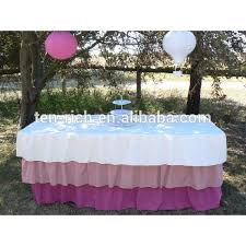 Pink Table Skirt by Ruffled Decorative Beautiful Gathered Table Skirt Buy Beautiful