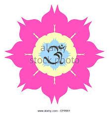 Lotus Flower With Om Symbol - lotus flower design stock photos u0026 lotus flower design stock