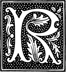 clipart initial letter r from beginning of the 16th century