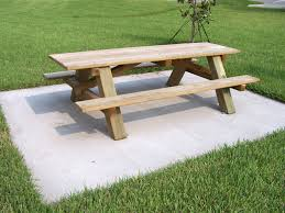 Heavy Duty Table by 8 U0027 Heavy Duty All Wood Picnic Table Southern Recreation