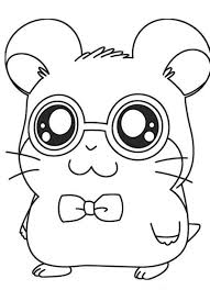 Cute Hamtaro Coloring Pages Cartoon Coloring Pages