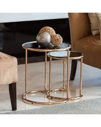 end table set of 2 slash prices on danya b set of 2 nested round end tables with black