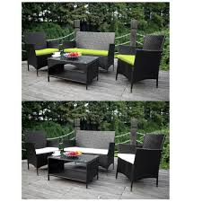 Good Rattan Specification Sale 4pcs Outdoor Rattan Patio Furniture Set Garden Lawn Wicker