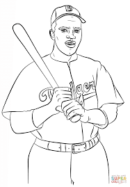jackie robinson coloring page free printable coloring pages