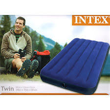 intex twin size classic downy inflatable air bed mattress 68757wa
