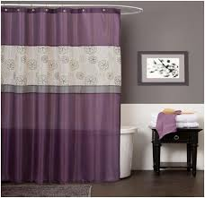 purple bathroom curtains ideas with nice wooden flooring laredoreads