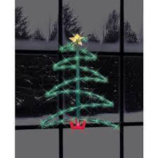 impact innovations christmas lighted window decoration 17 5 lighted christmas tree silhouette walmart com