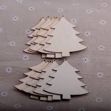 christmas tree hanging string decoration wooden shape ornament diy