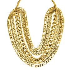 gold plated statement necklace images Karen london gold plated chain link statement necklace jpg