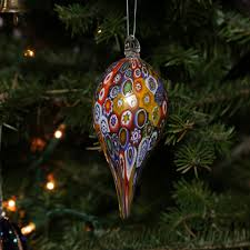 tree ornaments murano glass icicle ornament