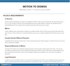 motion to dismiss in florida circuit court u2013 at a glance
