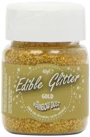 where to buy edible glitter buy rainbow dust colours edible glitter gold mini bulk 40 g in