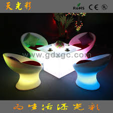 Led Outdoor Furniture - restaurant cafe chairs creative fashion luminous outdoor furniture