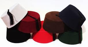 Ottoman Cap Velvet Fez Hat Shriner Turkish Casablanca Moroccan Cap Costume