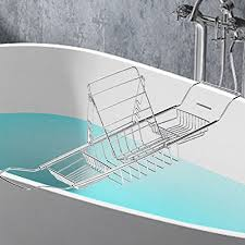 bathtub caddy with book holder lang deng stainless steel bathtub caddy with expandable sides book