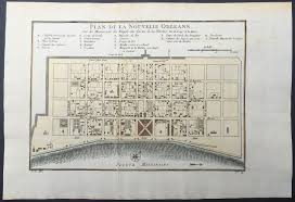 New Orleans Usa Map by 1757 Bellin Antique Map Plan Of The City Of New Orleans
