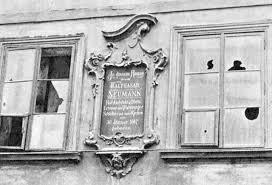 commemorative plaque neumann cheb