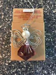 birthstone ornaments avon angel birthstone ornament july ebay